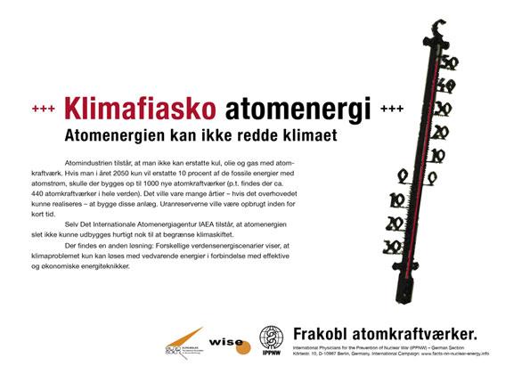 "Klimafiasko atomenergi - Atomenergien kan ikke redde klimaet - International plakatkampagne ""Fakta om atomenergi"""