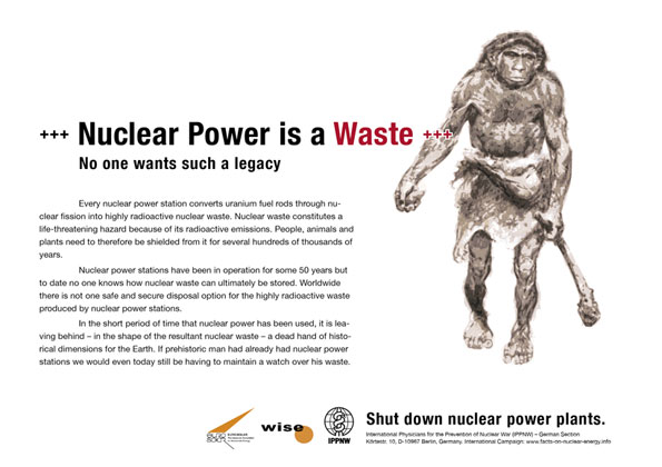 Nuclear Power is a Waste - No one wants such a legacy - International Nuclear Power Fact File Poster Campaign
