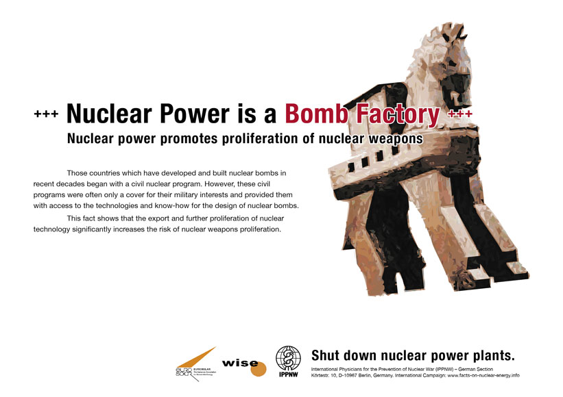 Nuclear Power is a Bomb Factory
