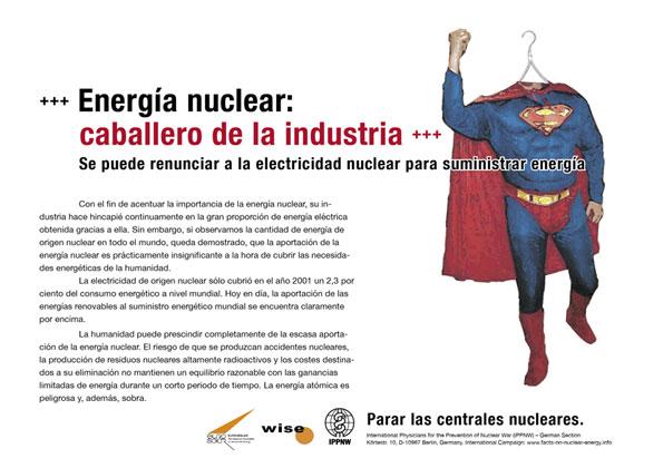 """Energía nuclear: caballero de la industria - Se puede renunciar a la electricidad nuclear para suministrar energía  - Campaña internacional de carteles """"Hechos sobre la energía nuclear"""""""