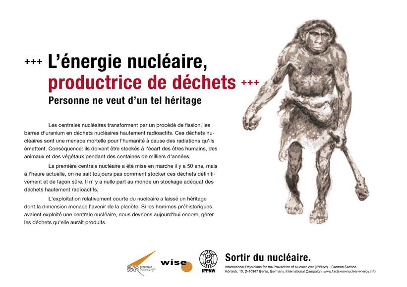 L'énergie nucléaire productrice de déchets - Personne ne veut d'un tel héritage - Campagne d'affiche internationale « La vérité sur le nucléaire »