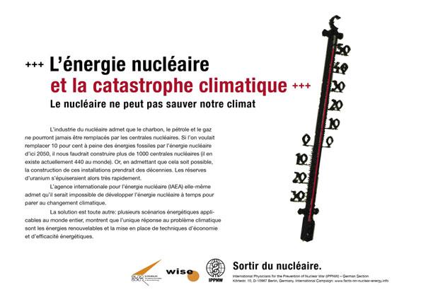 L'énergie nucléaire et la catastrophe climatique - Le nucléaire ne peut pas sauver notre climat - Campagne d'affiche internationale « La vérité sur le nucléaire »