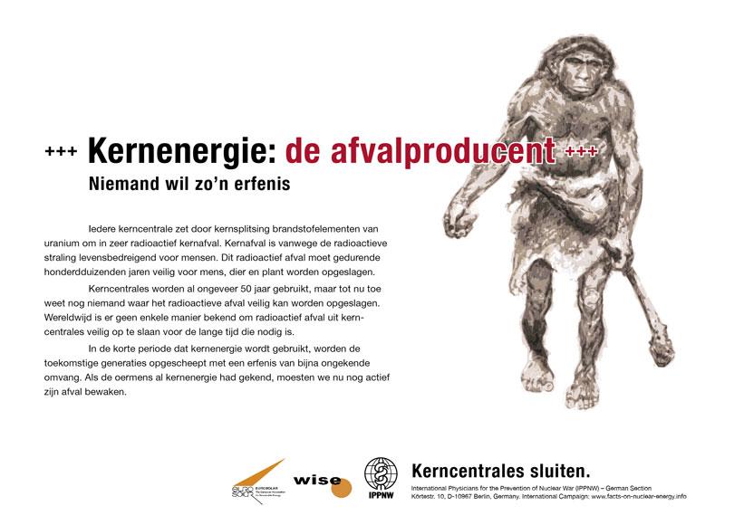 Kernenergie: de afvalproducent - Niemand wil zo'n erfenis - Internationale postercampagne