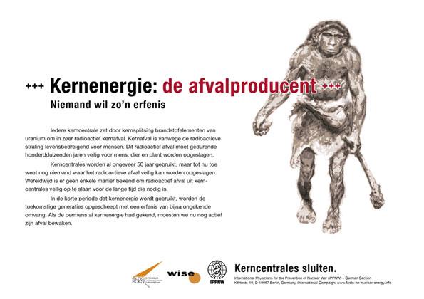 Kernenergie: de afvalproducent - Niemand wil zo�n erfenis - Internationale postercampagne