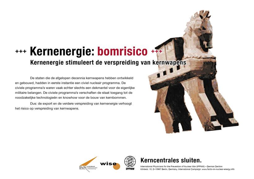 Kernenergie: bomrisico - Kernenergie stimuleert de verspreiding van kernwapens - Internationale postercampagne