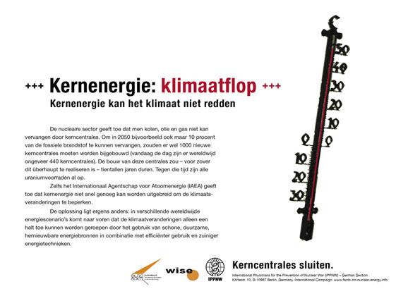Kernenergie: klimaatflop - Kernenergie kan het klimaat niet redden - Internationale postercampagne