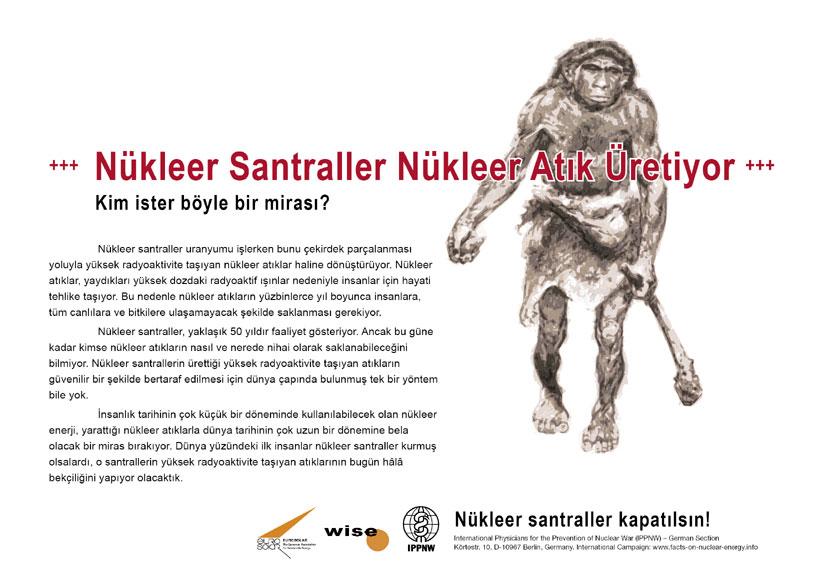 """Nükleer Santraller Nükleer Atık Üretiyor - Kim ister böyle bir mirası? - """"Atom Enerjisi Gerçeği"""" – Uluslararası Afiş Kampanyası -- International Nuclear Power Fact File Poster Campaign"""