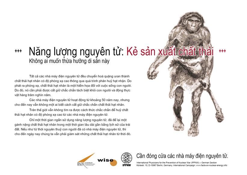 """Năng lượng nguy�n tử: Kẻ sản xuất chất thải - Kh�ng ai muốn thừa hưởng di sản n�y - Phong tr�o cổ động mang t�n: """"Sự thật về năng lượng nguy�n tử"""""""