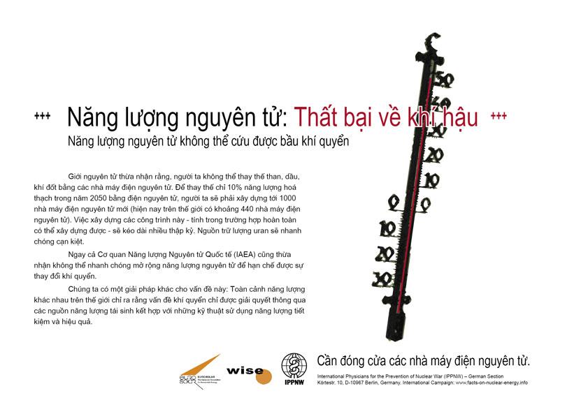 """Năng lượng nguy�n tử: Thất bại về kh� hậu - Năng lượng nguy�n tử kh�ng thể cứu được bầu kh� quyển - Phong tr�o cổ động mang t�n: """"Sự thật về năng lượng nguy�n tử"""""""