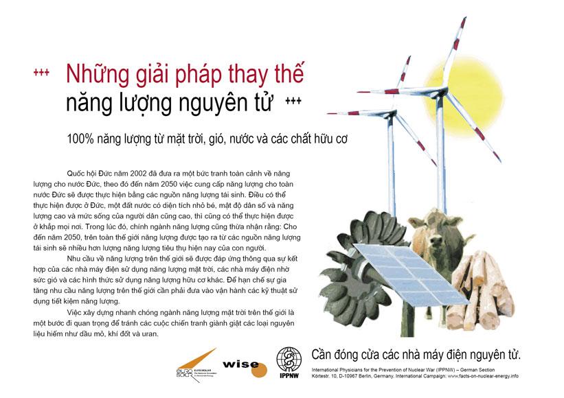 """Những giải ph�p thay thế năng lượng nguy�n tử - 100% năng lượng từ mặt trời, gi�, nước v� c�c chất hữu cơ - Phong tr�o cổ động mang t�n: """"Sự thật về năng lượng nguy�n tử"""""""