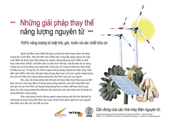"""Những giải pháp thay thế năng lượng nguyên tử - 100% năng lượng từ mặt trời, gió, nước và các chất hữu cơ - Phong trào cổ động mang tên: """"Sự thật về năng lượng nguyên tử"""""""